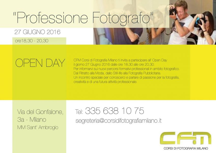 Professione Fotografo: Open Day