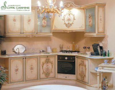 Cucina barocco oro e swarosky - Mobili stile veneziano ...
