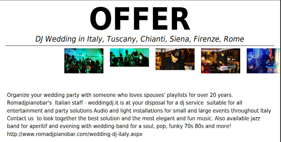 Wedding Dj Tuscany