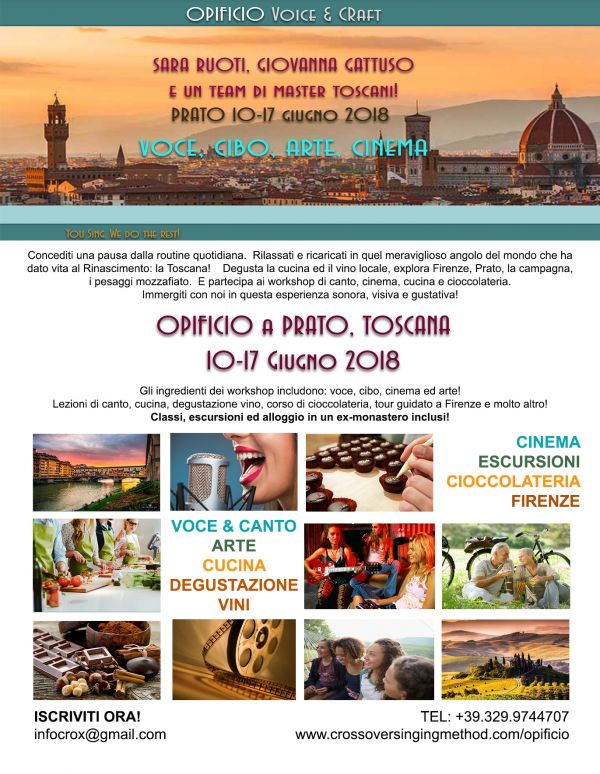 Opificio Voice & Craft: retreat di voce, cinema, cucina, arte