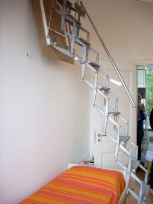 Scala retrattile a parete verticale realizzazioni personalizzate su misura - Scale retrattili a parete ...