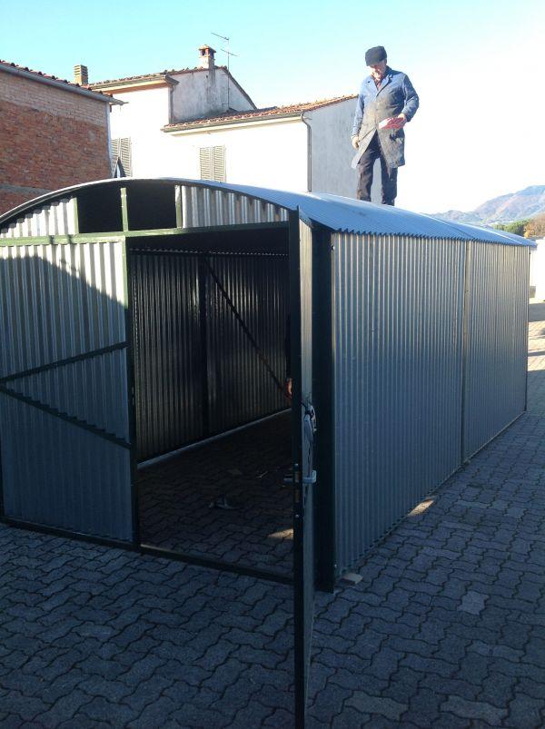 Box lamiera zincata garage rinforzato for Box in lamiera usati