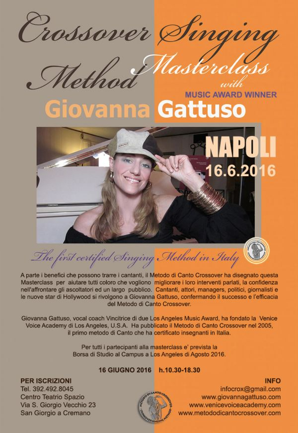 Workshop di CANTO  e TECNICA VOCALE - con Music Award Winner da Los Angeles