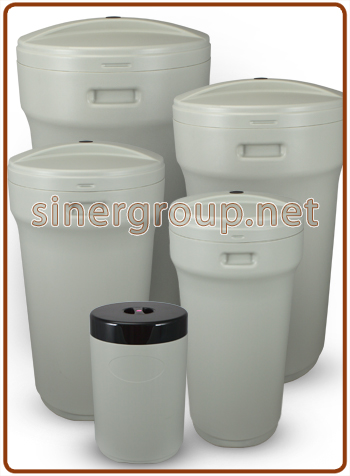 BTR round brine tanks for water softener from 25 to 200lit.