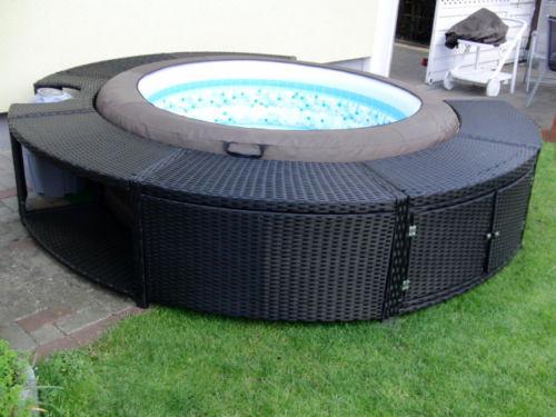 Casa Con Giardino Terni : Idromassaggio spa piscina gonfiabile rivestita rattan