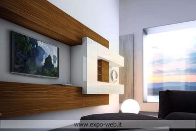 Le pareti attrezzate di Pescarollo a ottimi costi da: Arredamenti Expo ...