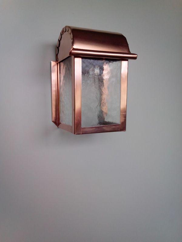 Lampade per esterno in rame e vetro cattedrale