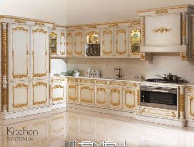 Cucina barocca veneziana oro e swarosky - Cucina stile veneziano ...