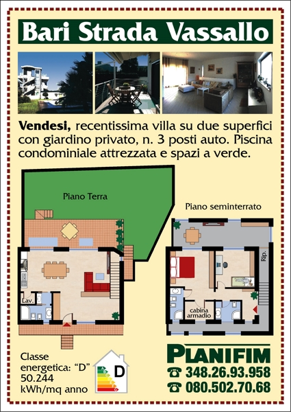 Recentissima villa due superfici via vassallo