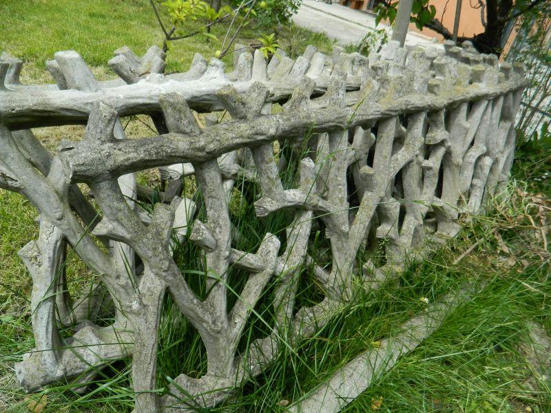 Recinzioni Per Giardino In Cemento.Recinzione Da Esterno Tipo Rami In Cemento Armato