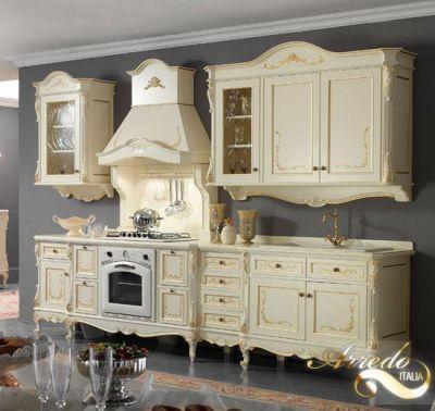 cucina barocca, veneziana, oro e swarosky