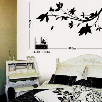 Orologi adesivi wall stickers e decorazioni adesive da for Orologi da parete adesivi